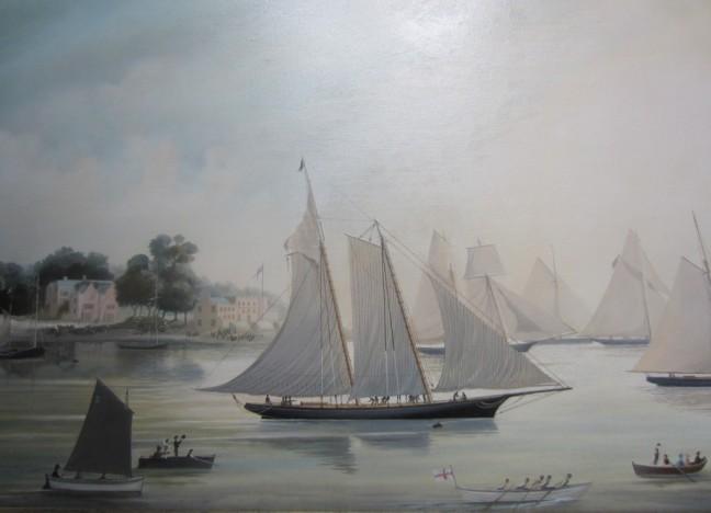 11. Regata Coppa delle 100 Ghinee 1851 – Partenza dei partecipanti dall'ormeggio