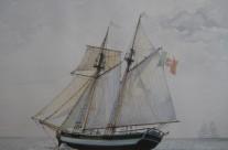 """16. Goletta a gabbiole """"Pandora"""" – ricostruzione di un postale del XVIII secolo"""