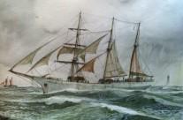 """Le depart de le Terre- Neouvier """" Commandant Louis Richard"""" de Saint Malo"""