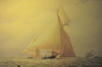 Coppa America 1881 – Acquerello