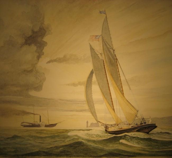 Coppa 100 Ghinee 1851- Verso la vittoria S.Y. America