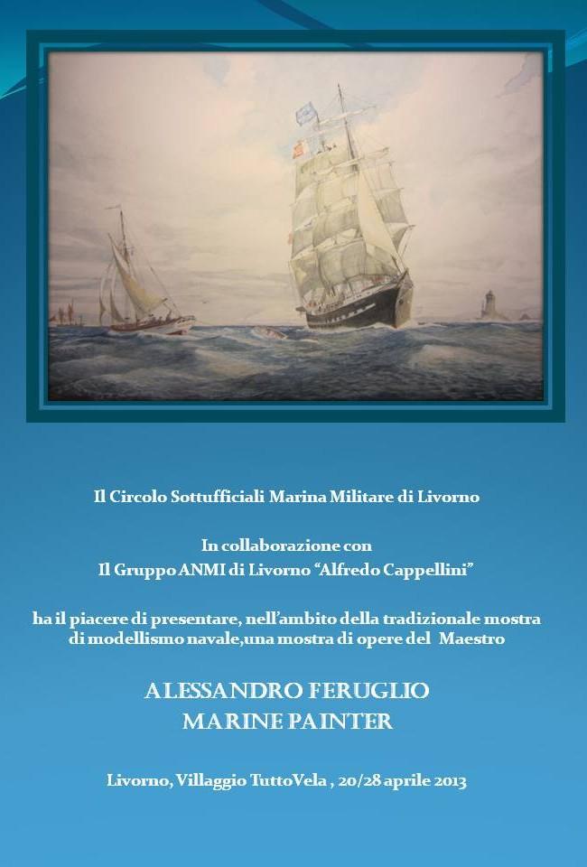Mostra personale in occasione della XXX edizione del  Trofeo Accademia Navale- Livorno