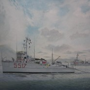 """Dragamine """" QUERCIA"""" M5517 (classe Abete ) ex U.S. Navy MSC 137"""