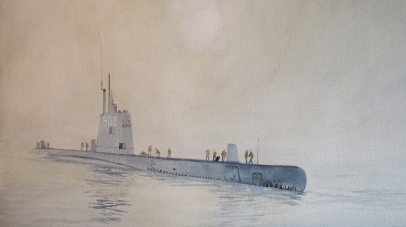 "S 502 Gazzana Priaroggia ( 1972-1981) ex USS ""Volador""  SS-490"