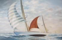 """il """"Corsaro II"""" alla Transpacific Race  del 1961"""