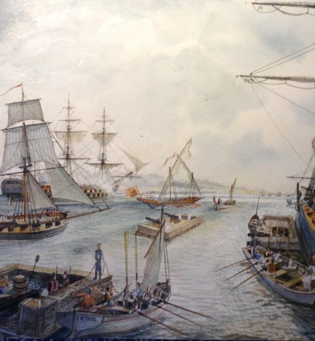 La flotta di Angelo Emo bombarda il porto di La Galite ( Tunisi) 1785