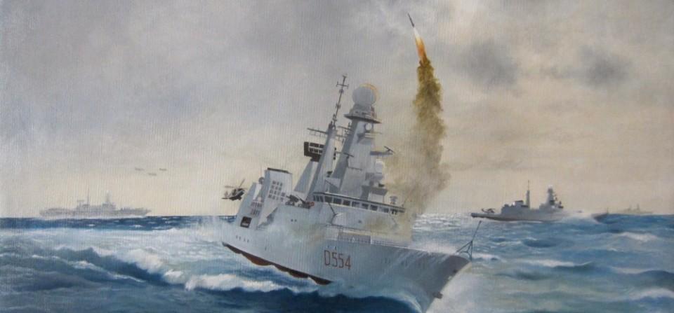 """CAIO DUILIO"" D554 – Lancio di un missile Aster"