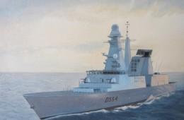 """""""Rientro alla base"""" (Piccolo ritratto di nave """" Caio Duiuilio"""" D 554)"""