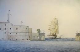 Quella volta che il Vespucci uscì  a vela dal Mar Piccolo di Taranto