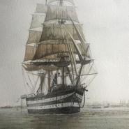 Un'altra epica impresa del Vespucci: la risalita a vela del Tamigi durante la crociera del 1968